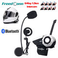 Free shipping! Freedconn New Design T-Rex Motorcycle 1500M 8-Way BT Interphone Bluetooth Helmet Intercom for motorbike