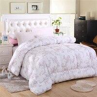 white handmade winter quilt comforter duvet blanket bedspreads 3.0kg queen size 200*230cm 100% mulberry silk ceiba free shipping