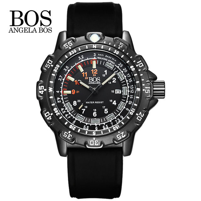 ANGELA BOS Top Brand Luxury Fashion Business Quartz font b Watch b font Men Sport Waterproof