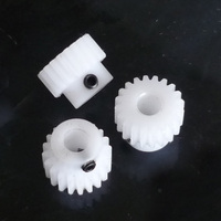 1.0m44T toothed belt nylon plastic pom boss module upright with the top wire 1.0 DIY gear transmission parts Cars