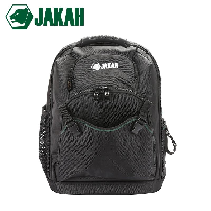 JAKAH JK-031 New Tool Backpack Tradesman Organizer Bag Waterproof Tool Bags Multifunction Knapsack Free Shipping