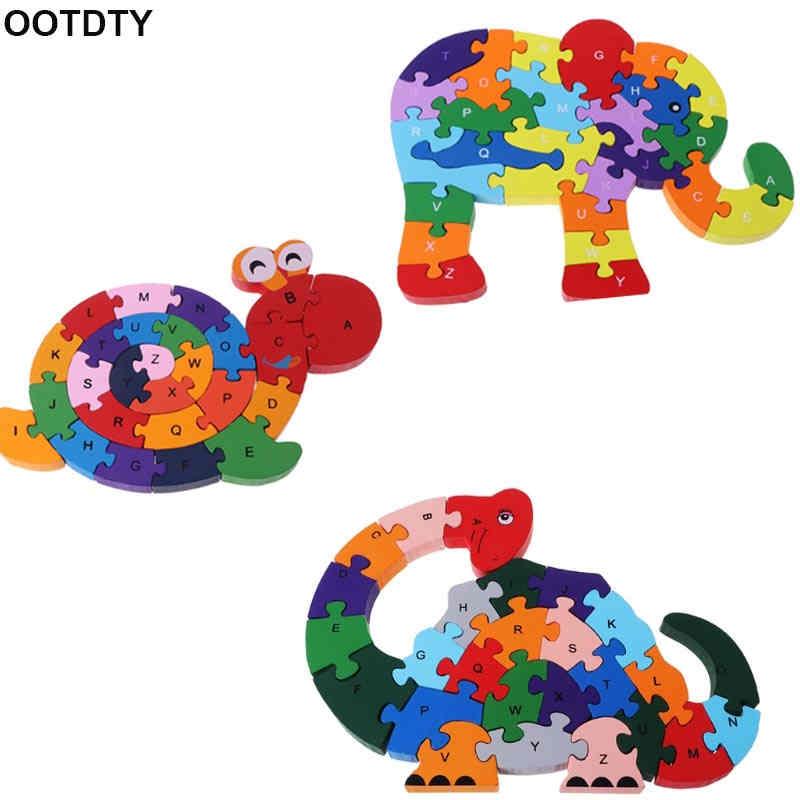 Обмотки животных деревянные головоломки Пазлы Детские Дети раннего развивающие игрушки