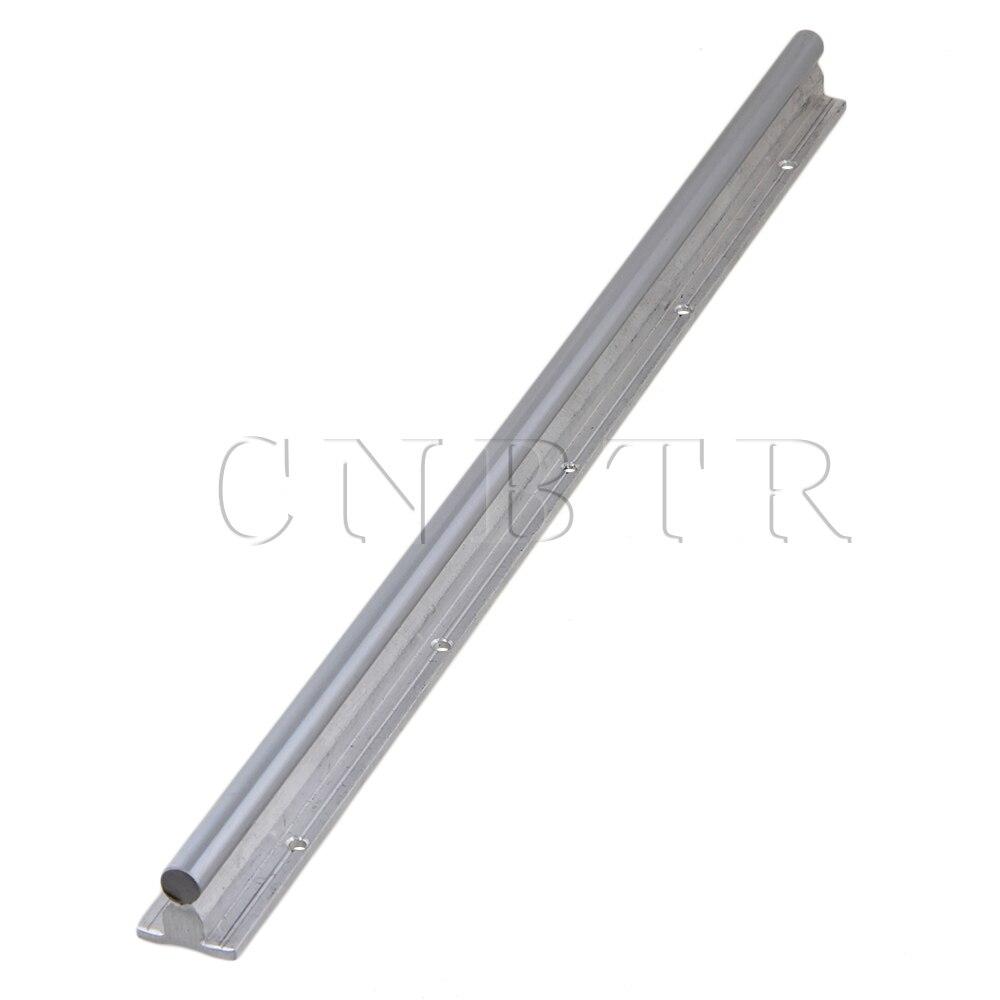 CNBTR L500mm 12mm Shaft Dia Linear Bearing Support Rail CNC Linear Motion silver 12mm dia cylinder linear shaft optical axis l500mm&cnc ball slide units linear rail support with linear bearing set of 8