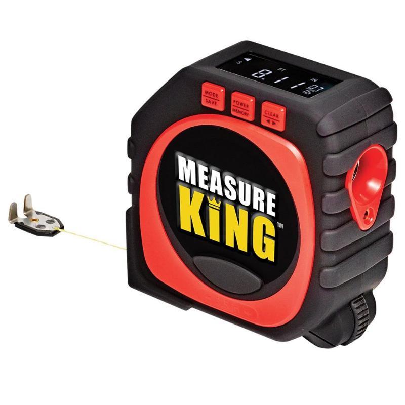 Precise Measure King 3-in-1 Digital Measuring Tape String Mode Sonic Mode Roller Mode Universal Digital Tape Measure Dropship new 3 in 1 digital tape measure string sonic roller mode laser tool