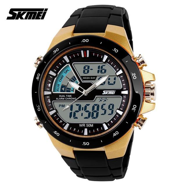 Watches men luxury brand LED Watch Skmei quartz Digital men Students sport wristwatches dive 50m Casual watch relogio masculino