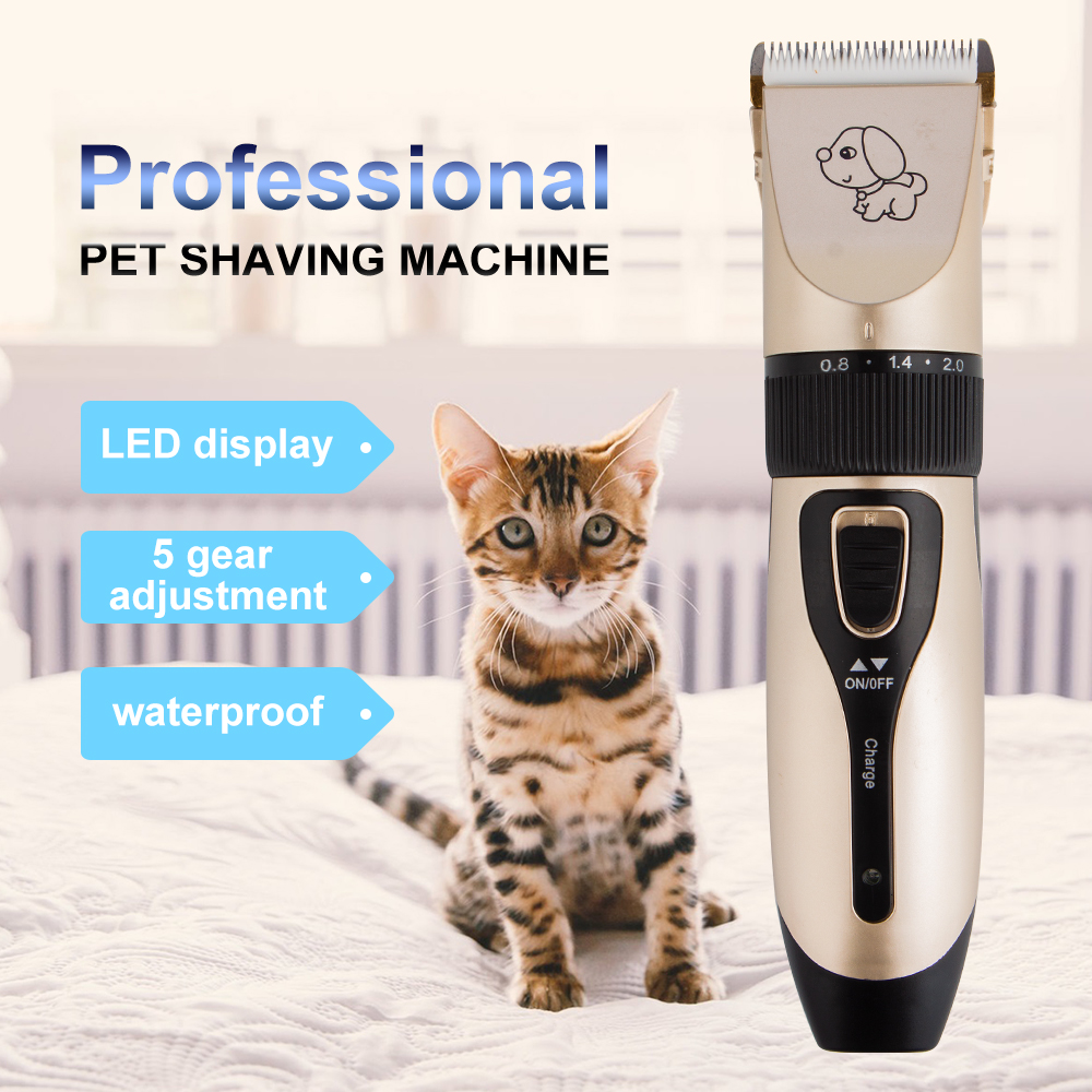 Rechargeable Low-noise Pet Hair Clipper Remover Cutter Grooming Cat Dog Hair Trimmer Electrical Pets Hair Cut Machine