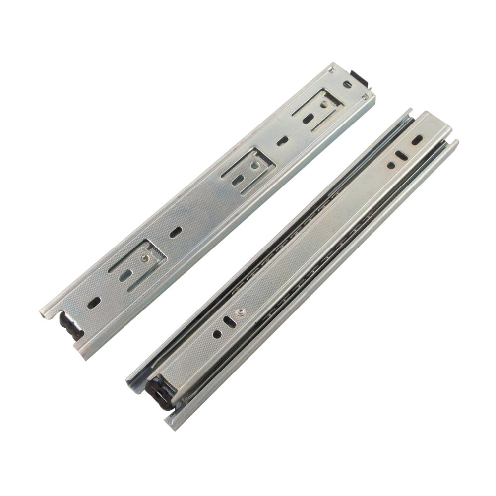2pcs 10inch Length Drawer Slides Rail 40mm Width Cold-Rolled Steel Fold Telescopic Ball Bearing Cabinet Drawer Sliding Runner 10 inch 20 inch large 50c triple pumping track muffler bearing drawer slides ball three sections