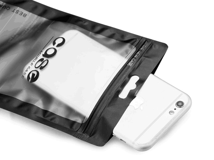 300pcs 12 21cm Waterproof Zipper Mobile Phone Shell Plastic package case Bags Zip Lock With Hang