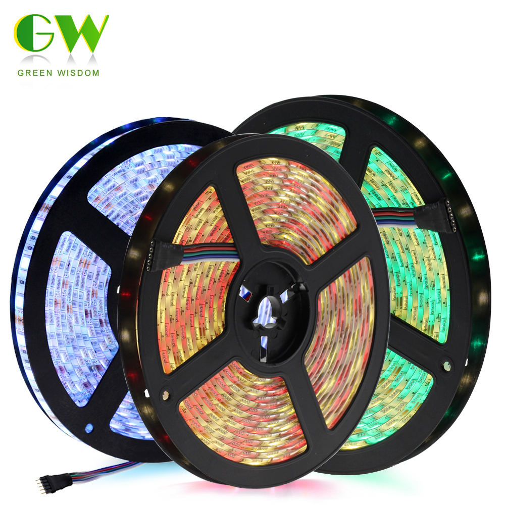 LED Strip 5050 DC12V Flexible LED Light Waterproof / No Waterproof 5050 RGB / RGBW LED Strip 60LEDs/m 5m/lot. 10pcs 5 pin led strip wire connector for 12mm 5050 rgbw rgby ip20 non waterproof led strip to wire connection terminals