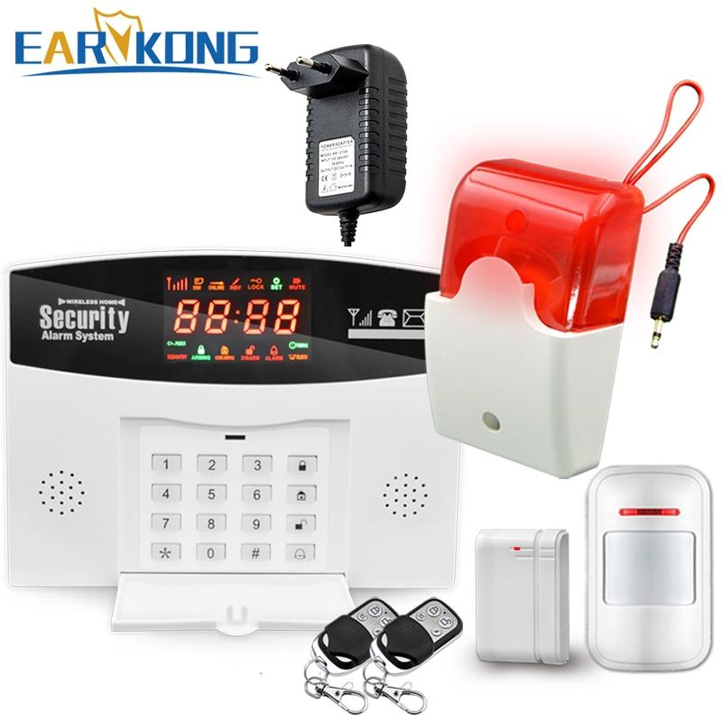 GSM Alarm System From Russian warehouse, 433MHz Wireless, Home Burglar Alarm System, Door Window Open detector. wireless vibration break breakage glass sensor detector 433mhz for alarm system