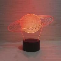 Sueño del bebé luces creativas de la noche 3D USB Sistema Solar modelado lámpara de mesa Visual abstracto planeta colorido accesorios mejores regalos