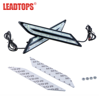 LEADTOPS 2Pcs COB 54 LED Car Styling DRL Daytime Running Light Source Head Lamp Crystal Blue