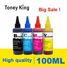 Toney king 4 color dye recarga kit de tinta para hp 122 xl para hp122 cartucho de tinta deskjet 1000 1050 1050a 1510 2000 2050 3000 impressora