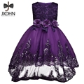 Summer Formal Wedding Gown Girl New Party Dress Children Clothing 2017 Baptism Kids Clothes Flower Girls Dresses Princess Dress