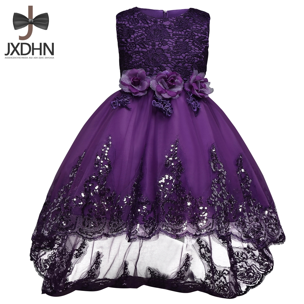 Summer Formal Wedding Gown Girl New Party Dress Children Clothing 2018 Baptism Kids Clothes Flower Girls Dresses Princess Dress kids flower girl dress for party and wedding dresses girls sleeveless princess dress 2018 new summer 3 14 yrs children clothes