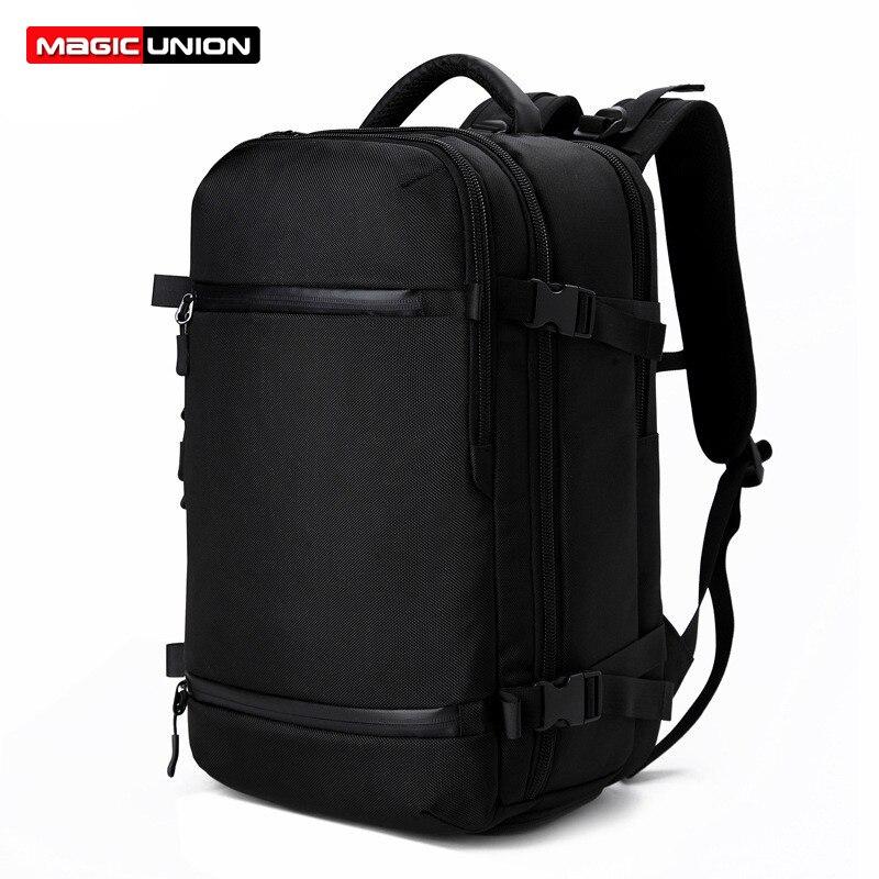 MAGIC UNION hommes voyage sac à dos femmes bagages sac à dos USB 20 pouces grande capacité multifonction étanche mâle sac à dos pour ordinateur portable-in Sacs à dos from Baggages et sacs    1
