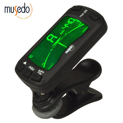 Musedo Universal Mini 1.77 LCD 3-in-1 Clip-on Metronome Tuner TM-25 for Chromatic Guitar Bass Violin and Ukulele cherub wsm 330 mechanical metronome for guitar violin piano zither