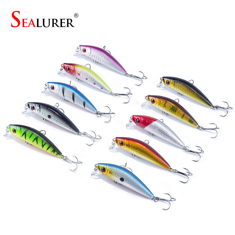 7cm 8.5g 10Pcs / Lot Minnow Fishing Lure Carp Fly Fly Isca Artificial Hard mom momeli Fish Fish Tackle