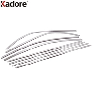 2008 2011 TOYOTA COROLLA Stainless Steel Car Window Moulding Decoration Car Window Frame Trim 8pcs With