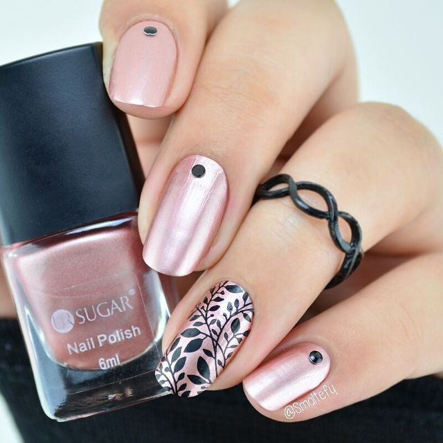 Ur Sugar Mirror Effect Nail Polish Metallic Rose Gold Pink Shiny Metal Color Varnish