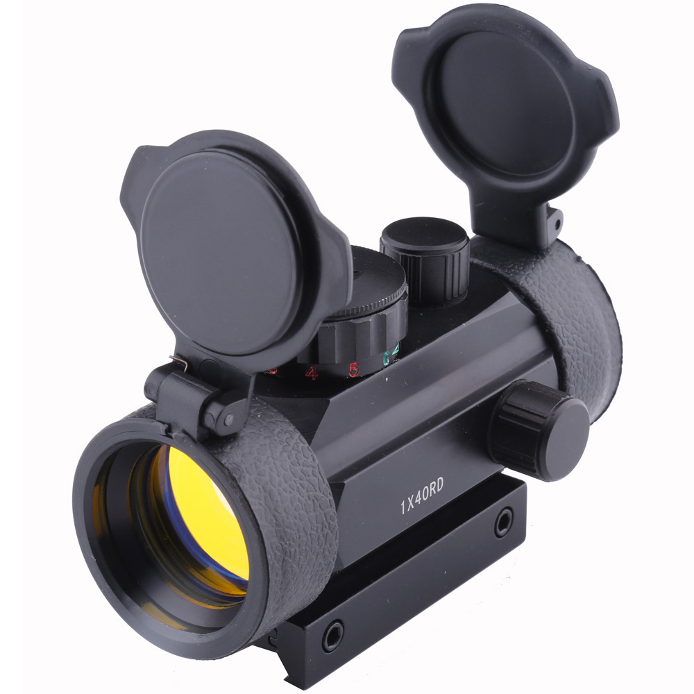 Hunting Red Dot 1X40RD Optical Sight 11mm 20mm Mounts Riflescope Aim Point Rifle Scope And Chasse Telescope