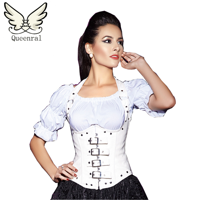 leather corset  steampunk underbust corset  waist trainer corsets  modeling strap bustiers sexy steampunk  gothic corset women