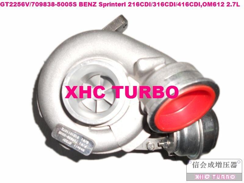 NOVÝ GT2256V / 709838-5005S Turbo turbodmychadlo pro Mercedes-BENZ SprinterI 216CDI / 316CDI / 416CDI OM612 2.7L 156HP 2000-2006