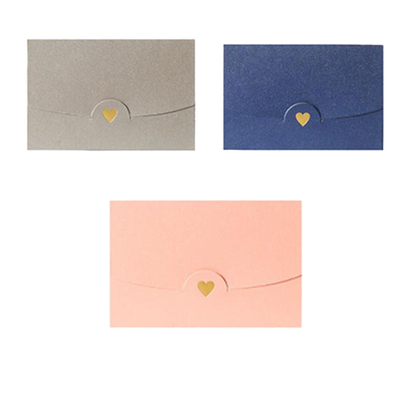 50Pcs/Set 7 x10.5Cm Colorful Heart Pearl Paper Envelopes for Party Invitations Valentine'S Day Gift Lovers Message Card Gift