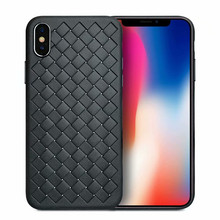 Super Soft Phone Case For iPhone 6 7 8 X XS Max Luxury Grid Cases 6s Plus XR Cover Silicone Accessories