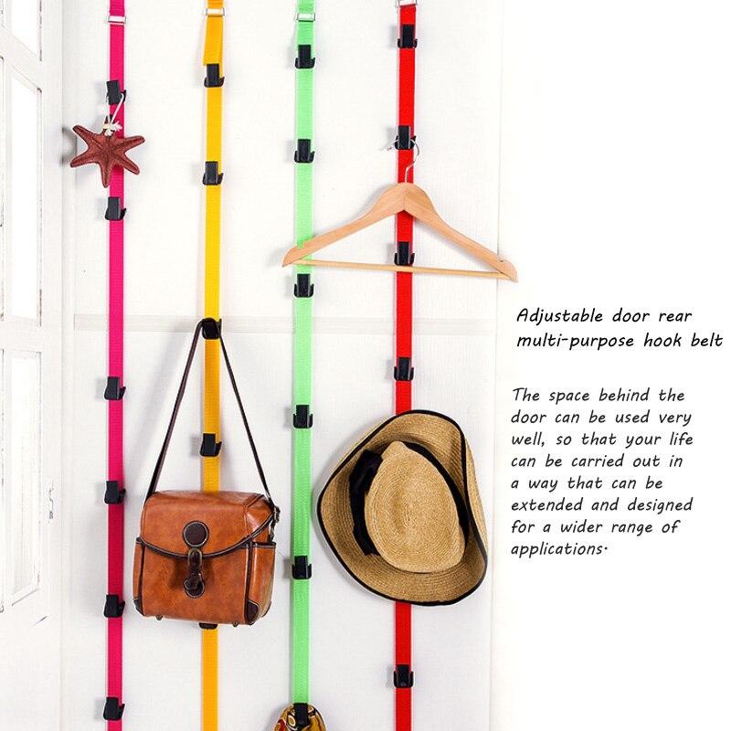 8-Hook Over Back Door Strap Hanger Bag Hat Coat Hanging Hook Clothes Holder