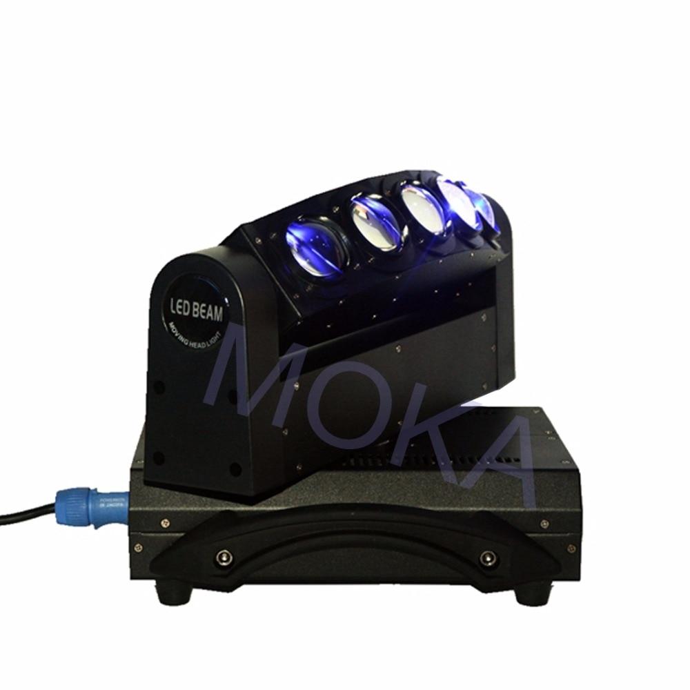 Luz de haz de MOKA de 5 cabezales de luz LED de 5X10 W DMX 4IN1 RGBW Luz de barra de discoteca de escenario en movimiento 3 clavija XLR enchufes TV LIVE SHOW proyector - 5
