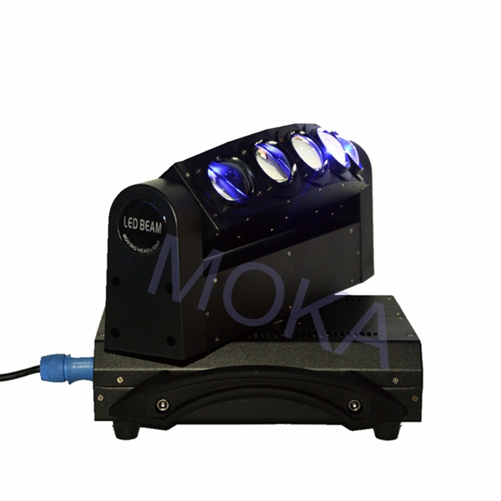 MOKA Beam 5 Heads Light 5X10W LED DMX 4IN1 RGBW Moving Head Stage Disco Bar Light 3 Pin XLR Sockets TV LIVE SHOW Projector