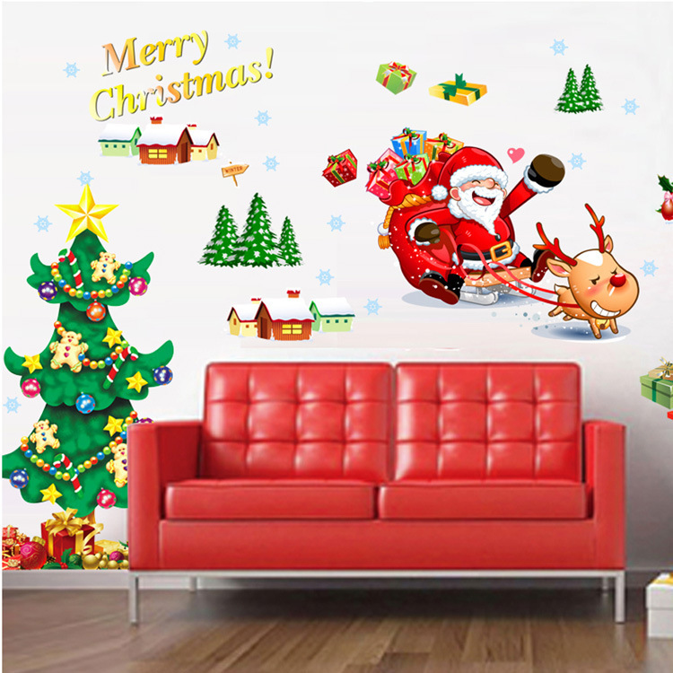 2015 New Arrived Christmas Wall Stickers Decor Decals For Walls/Vinyl  Removable Decal/Wall ... Part 91