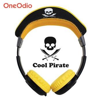 Oneodio Bambini Ragazzi Ragazze Cuffie Con Fasce Regolabile Wired Over-Ear Auricolari Auricolare Carino Pirata Per I Bambini Telefono