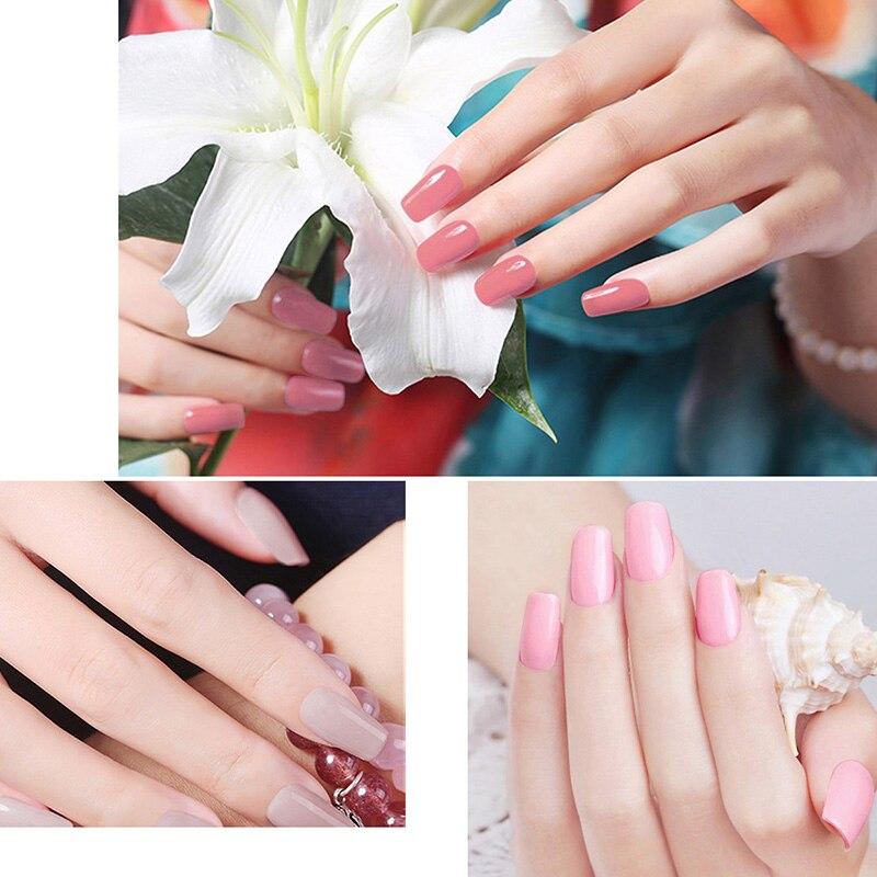 Rosa claro y Color Nude Esmalte de Uñas de Gel Barniz Respetuoso Del ...