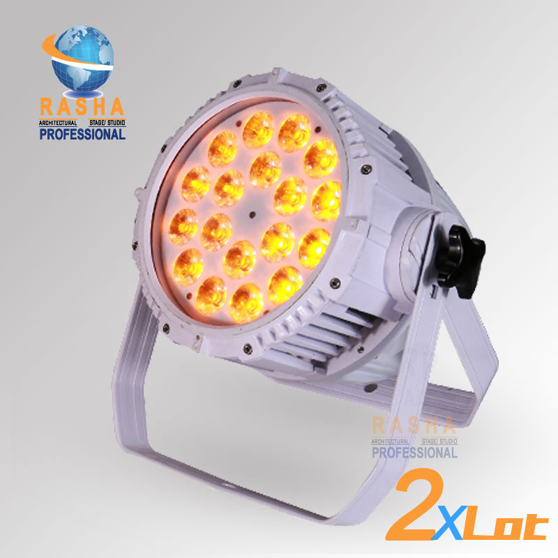 Rasha 2X Lit EXW Price IP65 Waterproof 18pcs*15W 5in1RGBAW LED Par Light,Outdoor Zoom Pa ...