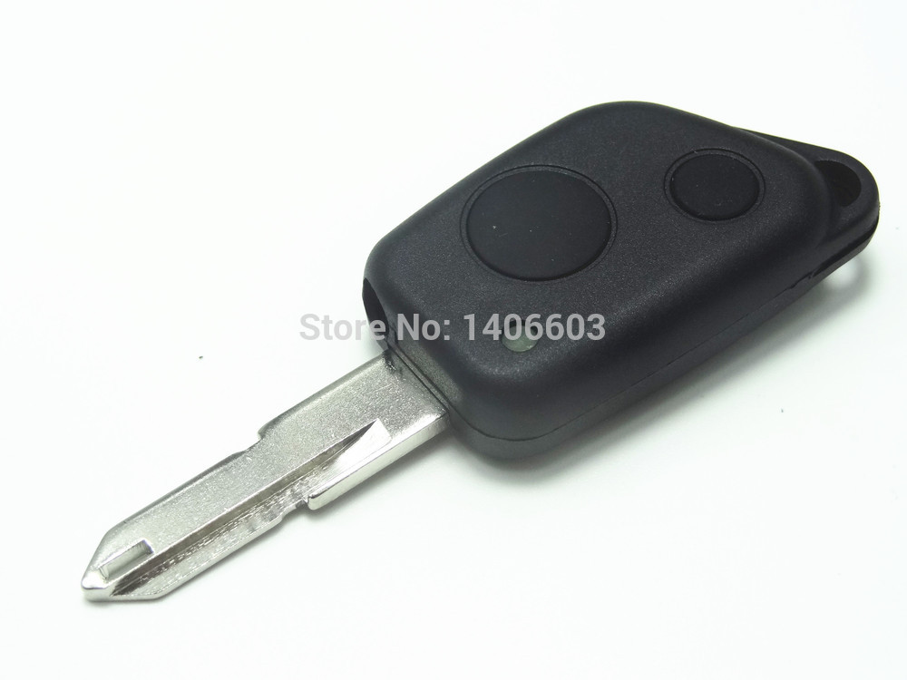 1pc Replacement Remote Key Shell fit for PEUGEOT 2 Button 206 Remote Key Case Fob uncut blade auto parts