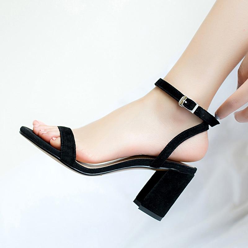 HTB1aOT9R3HqK1RjSZFgq6y7JXXaj ORATEE Fashion Ankle Strap Women Casual Sandals Open Toe Summer High Heel Shoes Buckle Ladies Office Work Sandalias Shoes