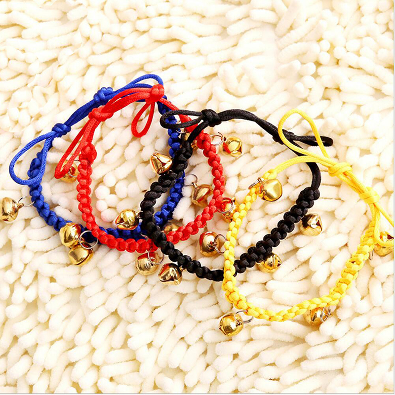 Pet Supplies Braided Rope Bell Pet Cat Dog Collar Bell Anti-lost Bells Dog Jewelry Necklace Harness Accessoires Multiple Colour