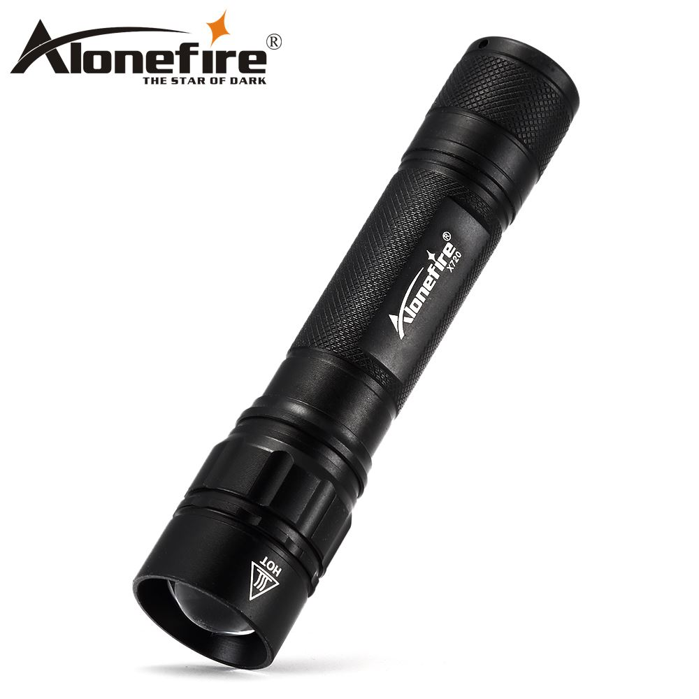 AloneFire X720 Mini CREE XML Q5 Telescopic Zoom LED Flashlight Torch Pocket Light Waterproof Lantern for 18650 Battery Powerful xml pocket consultant