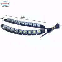 JingXiangFeng 2pcs Strip Shape COB Bendable Led Daytime Running Light 100 Waterproof COB Day Lights Flexible