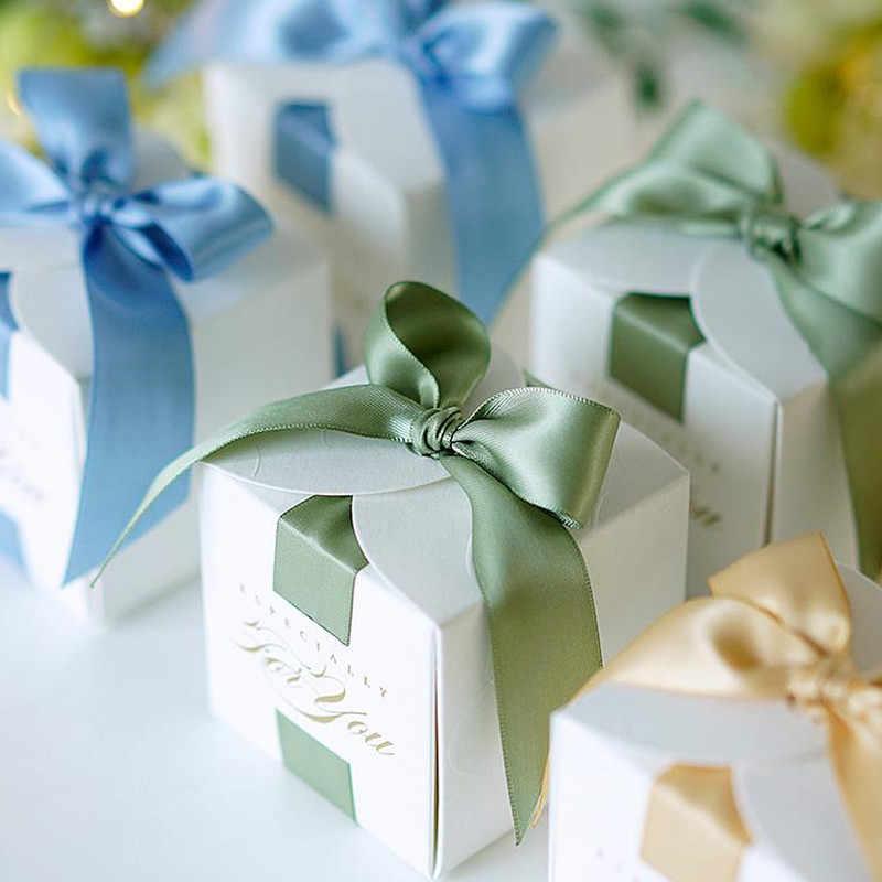 高級クリエイティブ結婚式の好意ギフトボックスボーイ & ガール洗礼ベビーシャワーの誕生日パーティー用品のためのチョコレートボックス