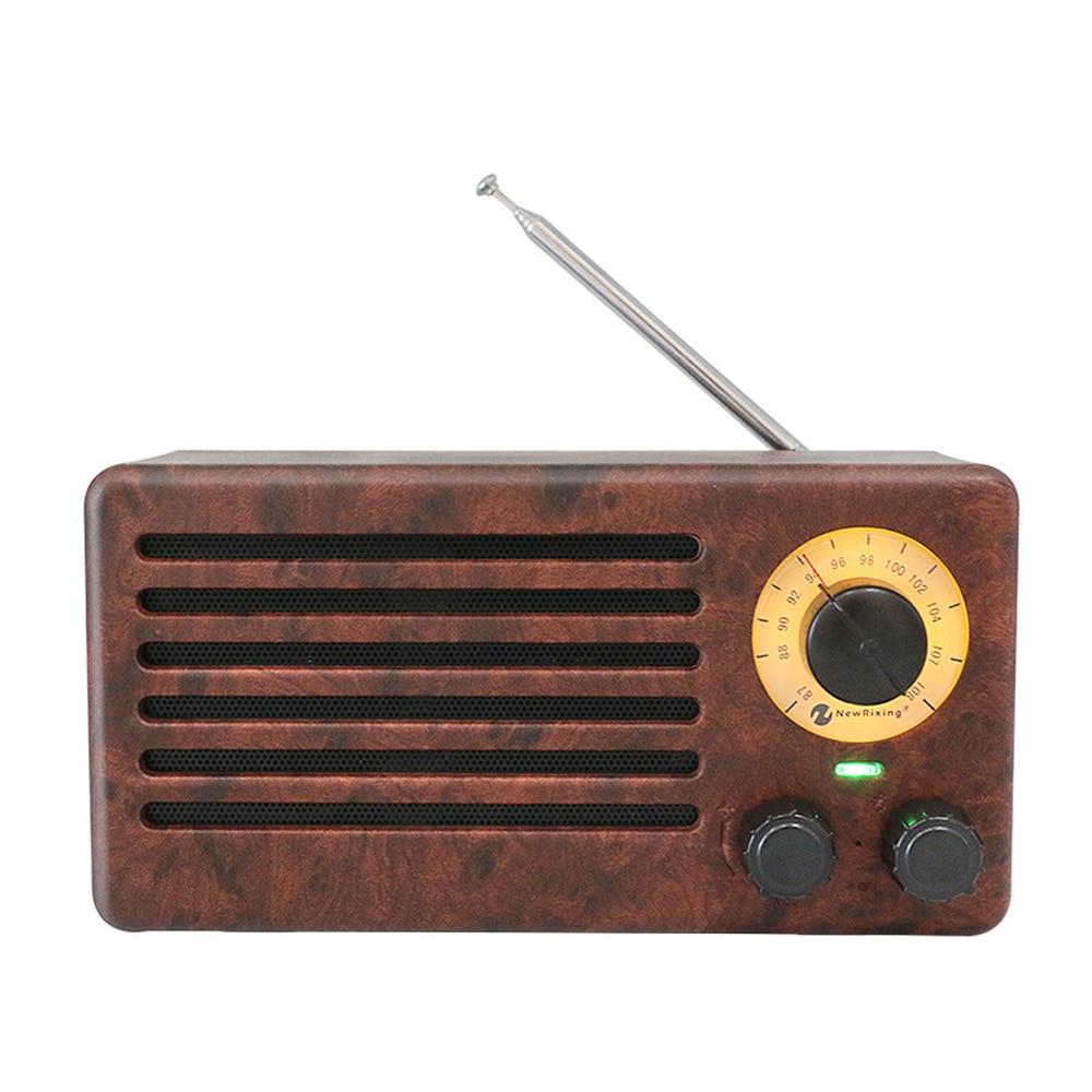 Retro radio HIFI portable bluetooth speaker 10W wireless stereo audio subwoofer speaker support TF card FM radio USB AUXRetro radio HIFI portable bluetooth speaker 10W wireless stereo audio subwoofer speaker support TF card FM radio USB AUX