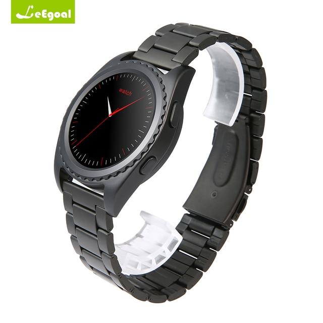 1263458a847 MTK2502 Smartwatch Bluetooth Monitor De Freqüência Cardíaca Relógio De  Pulso Pedômetro Rodada Relógio Inteligente Android IOS