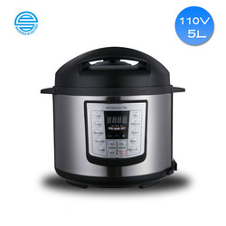 5L Capacity 110V Volt Electric Pressure Cooker Double Gall Multifunctional Intelligent Household Electric Pressure Cooker