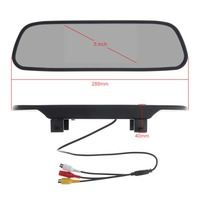 Universal 5 Inch Color TFT LCD Screen Wide View Angle Car Rear View Mirror Monitor