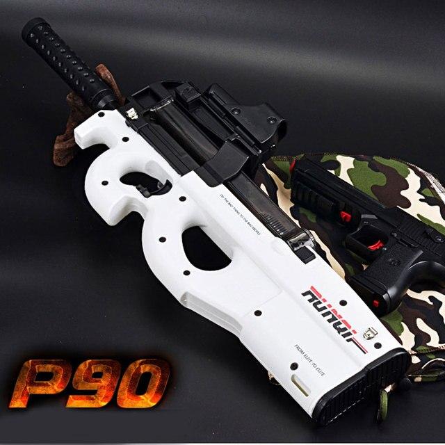 Cool Stuff P90 Electric Auto Toy Gun Graffiti Edition Live CS Assault Snipe Weapon Water Bullet Bursts Gun Funny Outdoor Pistol Toys 2
