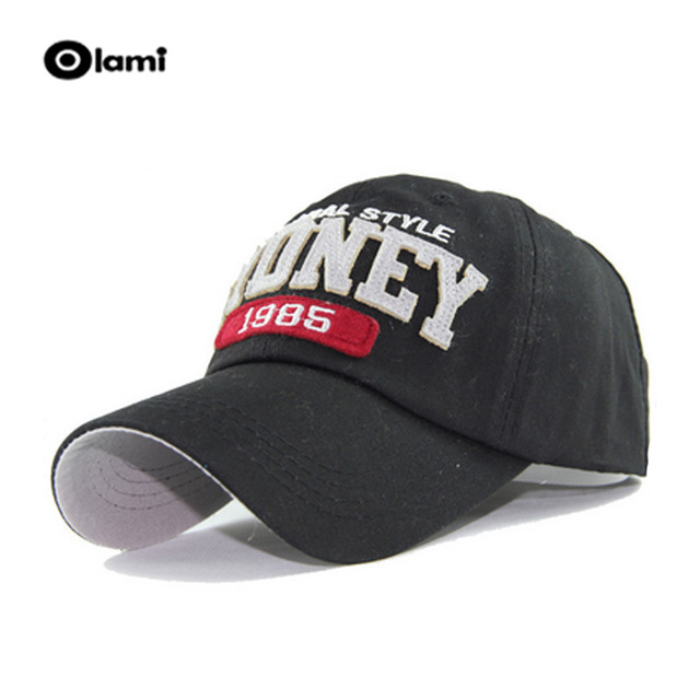 Olami 6 Color Washed Cotton Hats Autumn Summer Letter SYDNEY New style Men  Women Baseball Cap Sunblock Casquette Caps 66b33ec1c20