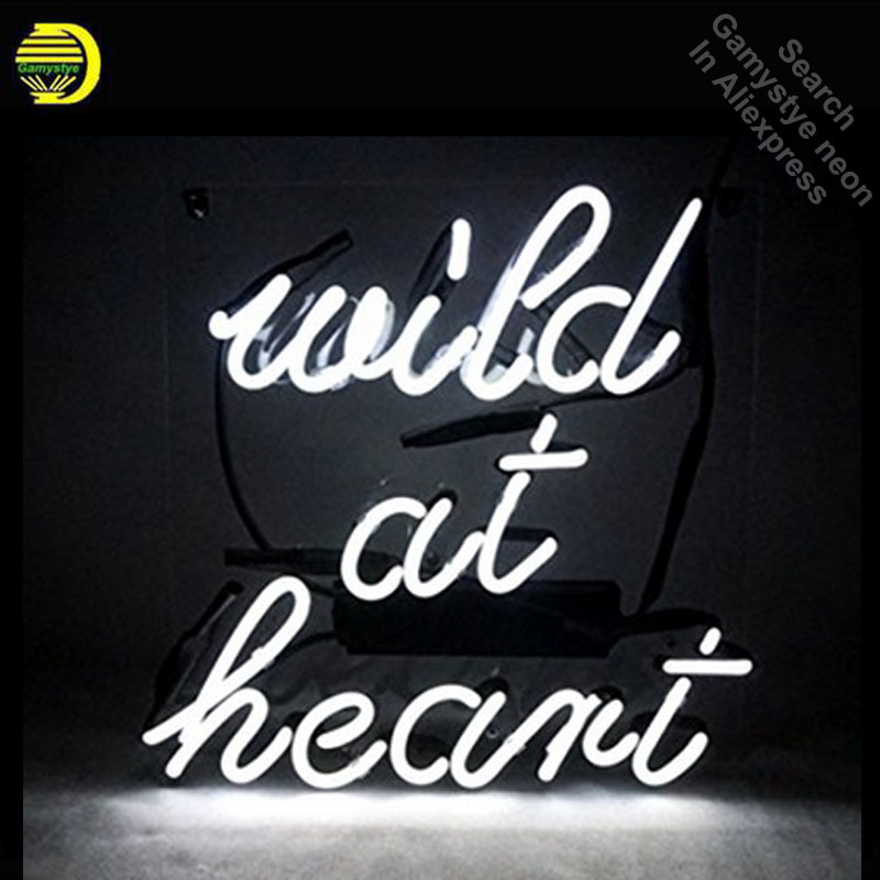 Wild At Heart Neon Sign neon bulb Sign Real Glass Tube neon lights Recreation club Pub Iconic Sign Advertise personalized lamp four colors atari neon sign neon bulb sign glass tube neon light recreation club pub iconic sign advertise arcade lamp wholesale