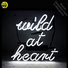 Wild At Heart Neon Sign neon bulb Sign Real Glass Tube neon lights Recreation club Pub Iconic Sign Advertise personalized lamp(China)